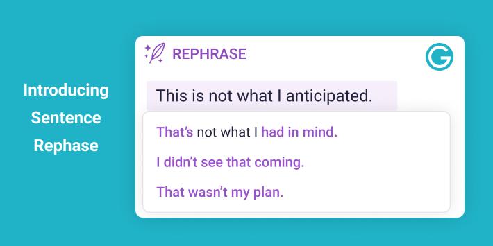 Introducing Sentence Rephrase