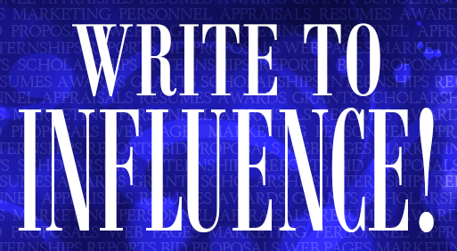 write to influnce